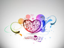 Valentines day colorful floral heart background Stock Image