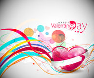 Valentines day colorful grunge design Stock Image