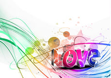 Valentines day colorful love design background vector illustration