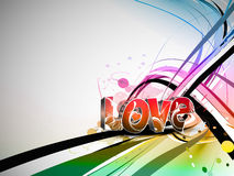 Valentines day colorful love design background Royalty Free Stock Photo
