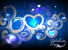 Valentines day colorful swirl background Stock Images
