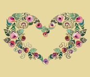 Valentines day colourful  heart Royalty Free Stock Photos