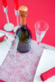Valentines day composition with fizz Royalty Free Stock Image