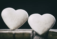 Valentines Day Composition With Two Hearts. Stock Images