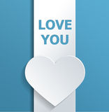 Valentines Day Concept Design with Love You Texts Stock Photography