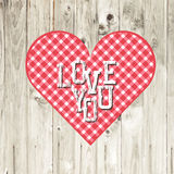Valentines day concept. Gift Card Design. Vector. Royalty Free Stock Photo