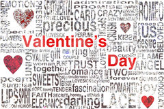 Valentines day. Concept for greeting card or background Stock Image