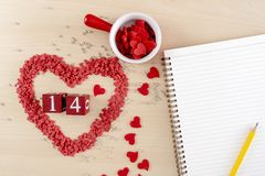 Valentines day concept Heart is fall love stock images
