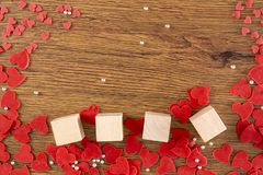 Valentines day concept Heart is fall love royalty free stock images