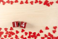Valentines day concept Heart is fall love royalty free stock image
