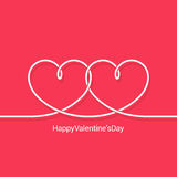 Valentines day concept vector background Royalty Free Stock Photos