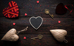 Valentines day concept on wooden background Stock Images