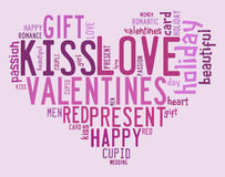 Valentines day concept in word tag cloud Royalty Free Stock Photo
