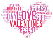 Valentines day concept in word tag cloud Stock Photo