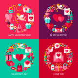 Valentines Day Concepts Set Royalty Free Stock Image