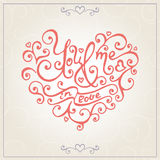 Valentines day congratulations card. Vector Stock Images