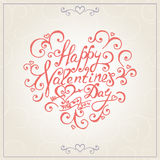Valentines day congratulations card. Vector Stock Photography