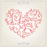 Valentines day congratulations card. Vector Royalty Free Stock Photo