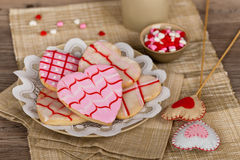Free Valentines Day Cookies Royalty Free Stock Images - 62171979