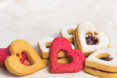 Valentines day cookies Stock Photography