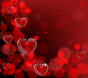 Valentines Day Corner Frame Background Stock Photos