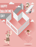 Valentines day cover magazine Stock Images