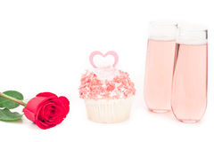 Valentines day cupcake Royalty Free Stock Images