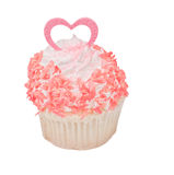 Valentines day cupcake Royalty Free Stock Image