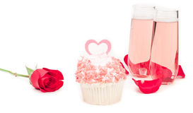 Valentines day cupcake Stock Photography