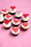 Valentines Day cupcake Stock Images