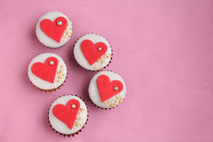 Valentines Day cupcake Stock Photos