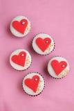 Valentines Day cupcake Stock Image