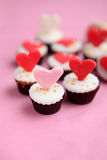 Valentines Day cupcake Royalty Free Stock Photo