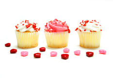 Valentines Day cupcakes Stock Photo