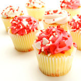 Valentines Day cupcakes Stock Photos