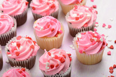 Valentines Day Cupcakes Stock Photography