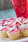 Valentines Day Cupcakes on a Plate Royalty Free Stock Photo