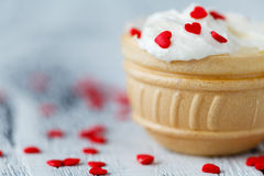 Valentines Day Cupcakes Royalty Free Stock Photography