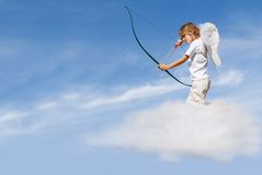 Valentines day cupid with bow Stock Image