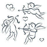 Valentines day cupid collection Stock Photography