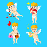 Valentines day cupids Royalty Free Stock Images