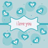 Valentines day cute card. Valentines day cute greeting card Stock Image