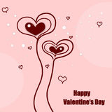 Valentines day cute hearts Stock Images