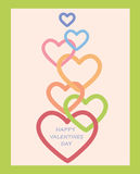 Valentines Day decoration with hearts. Stock Images