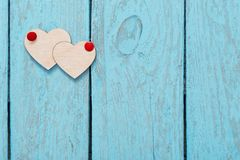 Valentines day decoration on old  background Royalty Free Stock Photography
