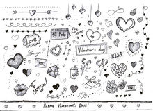 Valentines day decorations vector illustration