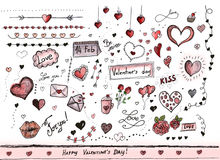 Valentines day decorations Stock Image
