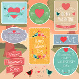 Valentines Day Decorations Vector Design Elements.. Valentines day set - labels, emblems, badges and other decorative elements. Vector Stock Photo