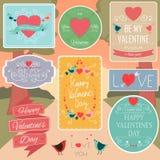 Valentines Day Decorations Vector Design Elements.  Stock Photo