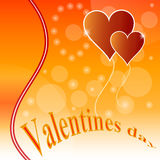 Valentines day design background. Stock Photography